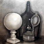 Anita Malfatti, Natureza morta, Carvão s/papel,  44 x 48 cm