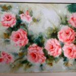 Anita Malfatti, Rosas / década 60,  Aquarela, 51 x 77 cm