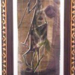 Danúbio Gonçalves, Lanceiro 1966, Xilogravura em papel de seda 1/10, 64 x 30 cm