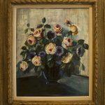 Leopoldo Gotuzzo, Vaso de flores, óleo s/tela