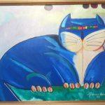 Aldemir Martins, O Gato 1982, acrílico s/tela, 46 x 55cm