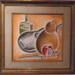 Vicente do rego Monteiro, Violão e objetos, óleo s/tela,  40 x 40 cm