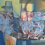 Roberto Burle Marx. Abstrato, Paneaux (tinta acrílica s/tecido), 1984, 110 x 155 cm