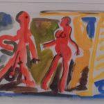 Jorge Guinle, Casal, guache s/papel, 20cm x 30cm