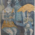 Zorávia Bettiol 77, O retrato, Xilogravura 44/70, 80 x 58cmr