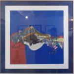 Manabu Mabe, Abstrato/1999, Serigrafia P.A.,50x50cm