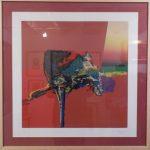 Manabu Mabe, Abstrato 1999, serigrafia P.A.,50x50cm