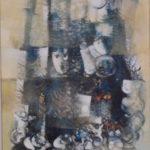 Alexandre Rapoport,Palhaços/1964,acrílico s/tela,64x45cm