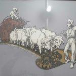 Joseph Lutzenberger, Carreta de bois II, serigrafia 4/21, 46 x 64cm