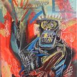 Jean-Michel Basquiat, s/título, Acrílico s/tela, 25 x 29,9 cm