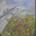 Wega Nery, Asa do avião, òleo s/tela, 100 x 80 cm