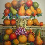 Volpetiz, Frutas Natureza morta 1995, òleo s/eucatex, 91 x 74 cm