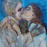 Graça Craidy – Beijos de cinema – Bonequinha de Luxo – acrílico s/tela – 160 x 100 cm