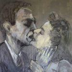 Graça Craidy – Beijos de cinema – Casablanca -  acrílico s/tela – 160 x 100 cm