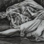 Roberta Agostini – Encapsulamento – políptico carvão s/papel – 84 x 120 cm