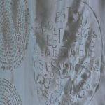 Rosane Morais – O silêncio sobre o vazio - Desenho s/tecido c/ queima pirógrafo- 3500 x 2000cm