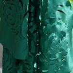 Rosane Morais – A importância do Verde – Desenho s/tecido c/ queima pirógrafo- 4000 x 40cm
