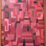 Joaquim Tenreiro, Formas 1974, óleo s/ placa, 55 x 40 cm