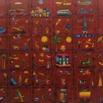 Eduardo Veira da Cunha, Cidade em quadrinhos, acrílico s/ tela, 1,20 x 1,50 cm