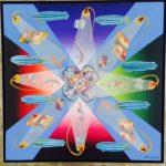 Eduardo Veira da Cunha, Cartomante, acrílico s/ tela, 60 x 60 cm